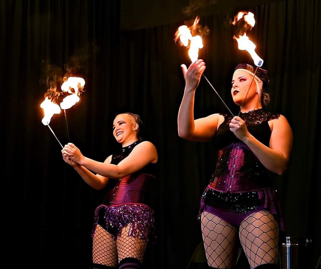 Fire Eating Krystal Younglove and Nova Nyx